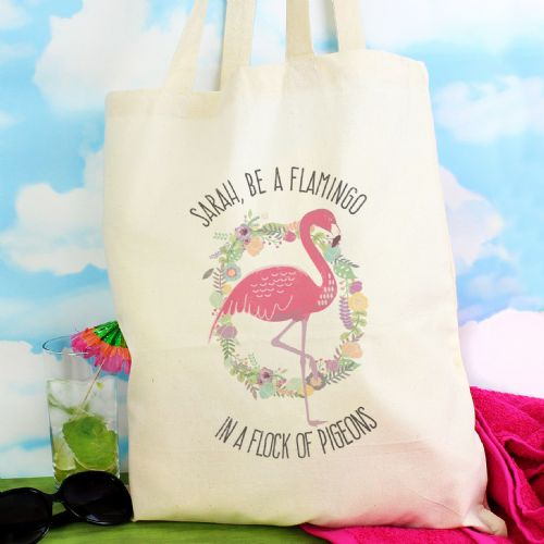 Flamingo Cotton Bag